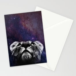 Galaxy Lion Stationery Cards
