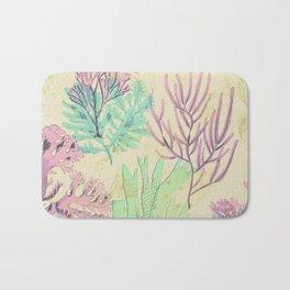 Pastel seaweed pattern. Bath Mat