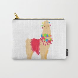 Festive Llama Carry-All Pouch