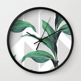 Greenhouse -jungle Wall Clock