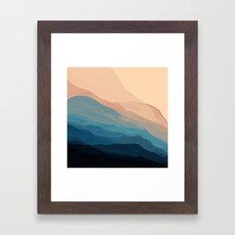 Blue Waves In Desert Peaks Framed Art Print