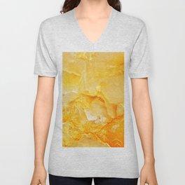 Yellow onyx marble Unisex V-Neck