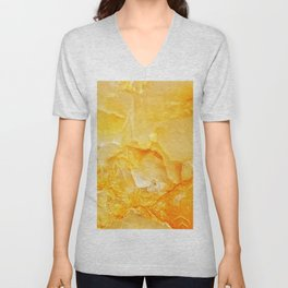 Yellow onyx marble Unisex V-Neck