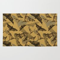 bats Area & Throw Rugs featuring Bats by Deborah Panesar Illustration