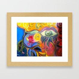 One eye Open Framed Art Print