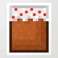 MineCake Art Print