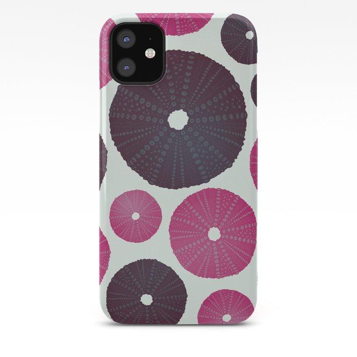 Sea's Design - Urchin Skeleton (Pink & Black) iPhone Case