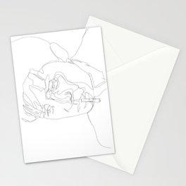 smoking man Stationery Cards