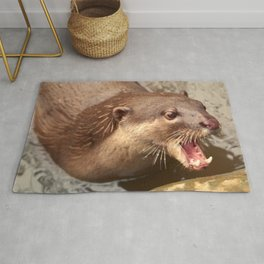 Smooth Coated Otter  Rug