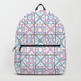 symetric tartan and gingham 26 -vichy, gingham,strip,square,geometric, sober,tartan Backpack
