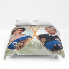 Queen Elizabeth 11 & Prince Philip in 1952 Comforters