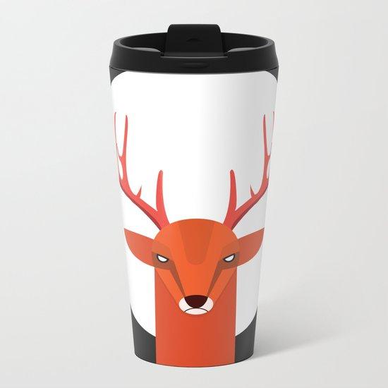 Deer and Moon Metal Travel Mug