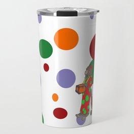 Monkey and Dots Travel Mug