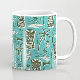 Tropical Tiki - Aqua Coffee Mug