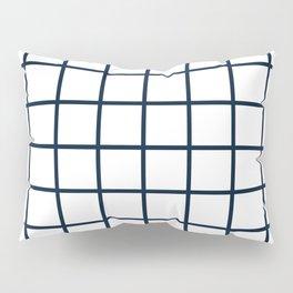 GRID DESIGN (NAVY BLUE-WHITE) Pillow Sham