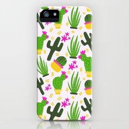 Cactus Pattern of Succulents iPhone Case
