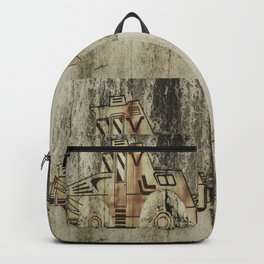 four Dutch tractors Backpack