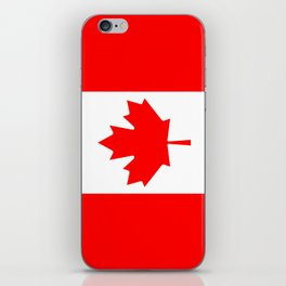 Flag of Canada - Authentic High Quality image iPhone Skin