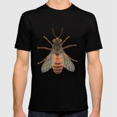 Bee (Abeille) Black MEDIUM Mens Fitted Tee