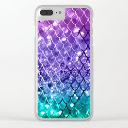 Mermaid Scales on Unicorn Girls Glitter #19 #shiny #decor #art #society6 Clear iPhone Case
