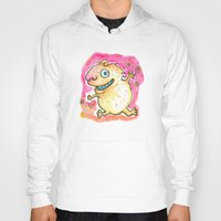 guinea pig Hoodies featuring Guinea Pig Monster by Scalmato Studio