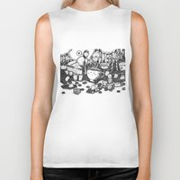 coffe Biker Tanks featuring Smile coffe by Kisava NiCh