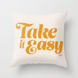 Take it Easy (Yellow Palette) Throw Pillow