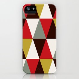 Midcentury harlequin pattern iPhone Case