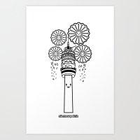 Torre Entel 1 Color Art Print