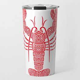 Tribal Maine Lobster on White Travel Mug