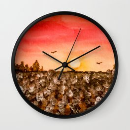 Southern Snow Wall Clock