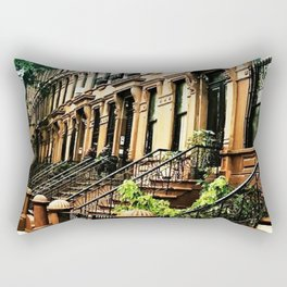 Harlem Brownstones on a summer's day Rectangular Pillow