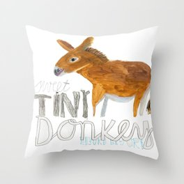 Sweet Tiny Donkey eeyorr eeyore Throw Pillow