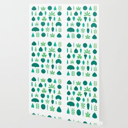 Leaf Shapes and Arrangements Pattern Bright Wallpaper