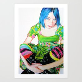 Green Dress Art Print