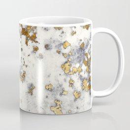 Gold Sprinkled White Marble Coffee Mug