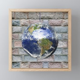 This ain't no Party - Save the Earth Framed Mini Art Print