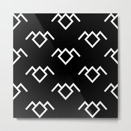 Twin Peaks Owl Petroglyph in Black Lodge Metal Print
