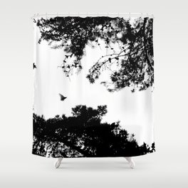 freedom to fly up to sky Shower Curtain