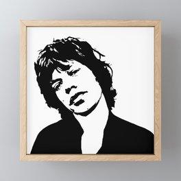 "BEAUTIFUL GIFTS OF Sir Michael Philip ""Mick"" JaggerBlack White Face, Music, Art Framed Mini Art Print"