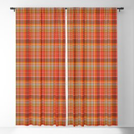 Red checked pattern - summer colours Blackout Curtain