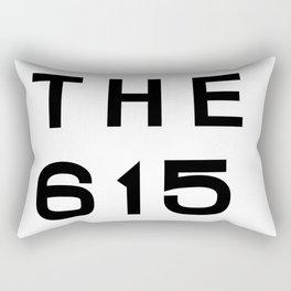 615 Nashville Tennesse Area Code Typography Rectangular Pillow
