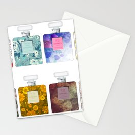 Perfumes pattern Stationery Cards