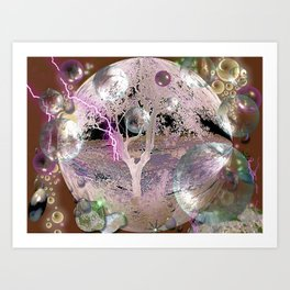 Purple Aura Art Print