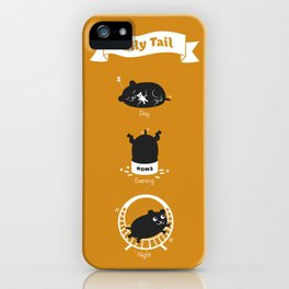The Daily Tail Hamster iPhone Case