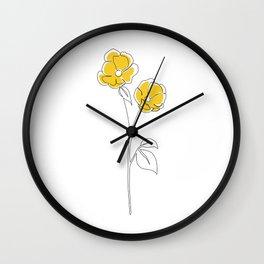 Mustard Bloom Wall Clock