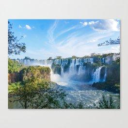 Majestic Iguazu Waterfalls Fine Art Print Canvas Print