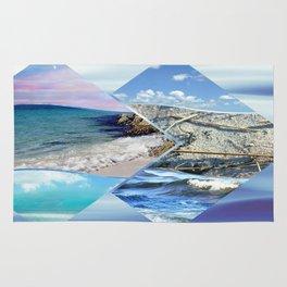 Sea, Sand and Sky Collage Rug