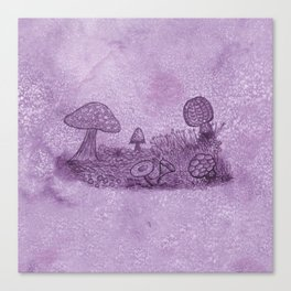 Fungi Meadow Canvas Print