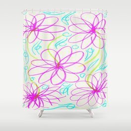 Flowers in the Lake Shower Curtain